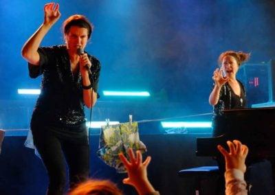 """Anna Kruse og Kirsten Juul Seidenfaden til koncerten """"Vi finder på"""""""