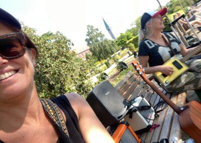 Anna Kruse og Lisbeth Rysgaard til Parkbænkskoncert