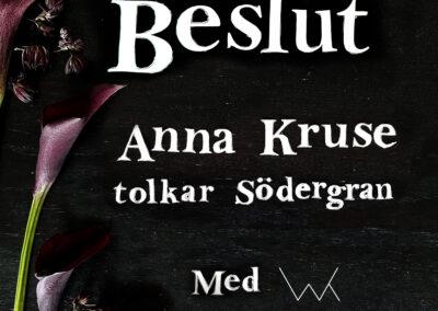 """Albummet Barndomsträd med Anna Kruse, singlen """"Beslut"""" 23 juli"""
